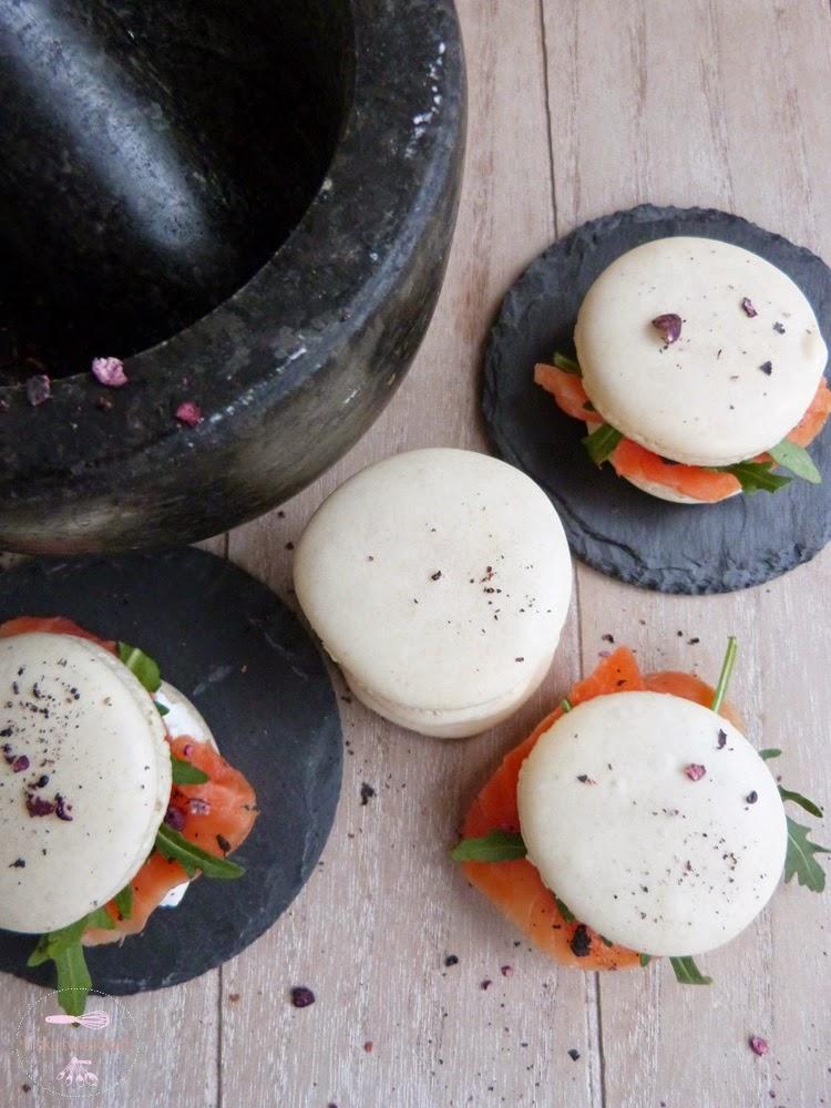 macarons mit frischk se rucola und lachs und einer gepfefferten prise biskuitwerkstatt. Black Bedroom Furniture Sets. Home Design Ideas