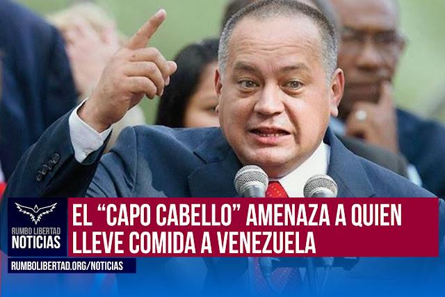 Diosdado Cabello llamó a tomar medidas judiciales contra quienes pidan ayuda a favor de los hambrientos