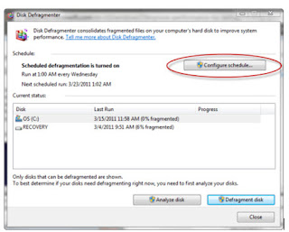 cara mempercepat proses booting windows 7 Defragment Hard Drive