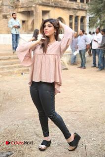 Telugu Actress Aditi Singh Stills in Leather Pants at Nenu Kidnap Iyanu Movie Press Meet  0236.JPG