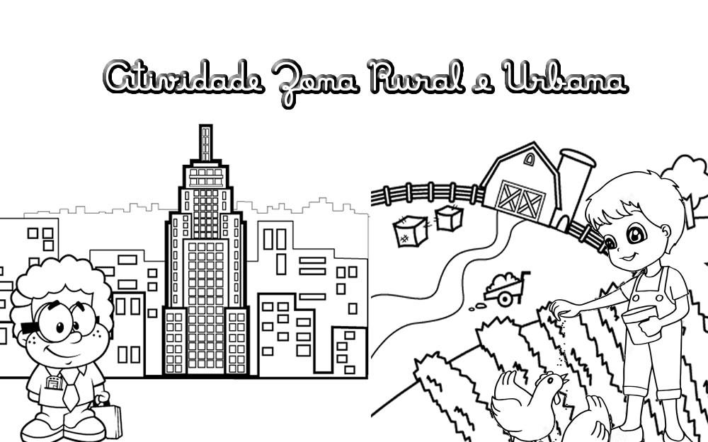 Zona Rural E Zona Urbana Atividades Educativas