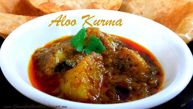 Aloo Kurma - Potato kurma for Poori an Andhar Style curry