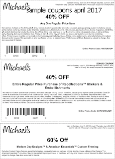 free Michaels coupons for april 2017