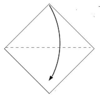 Step 1: Fold paper in half