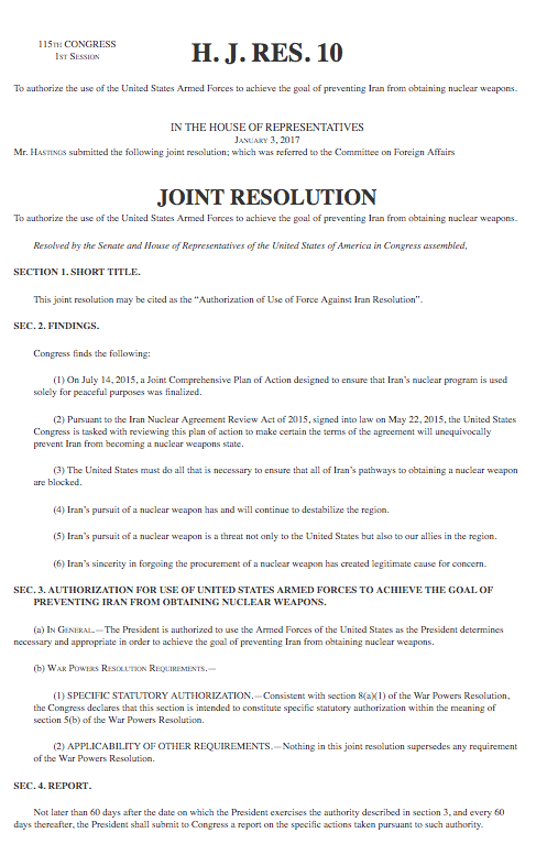bill congress house joint resolution actions