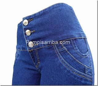 pantalon de mezclilla de mayoreo, pompis arriba jeans corte colombiano