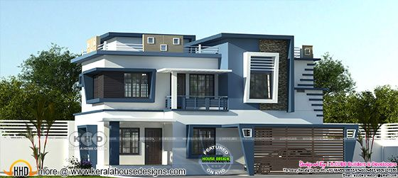 2296 sq-ft 3 bedroom contemporary home