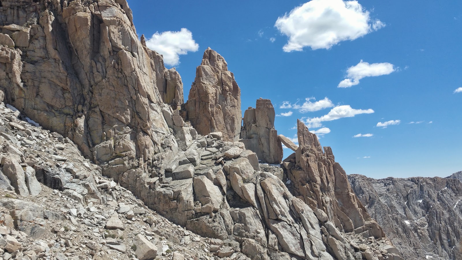 Rocky formations from the climb of Mt. Whitney