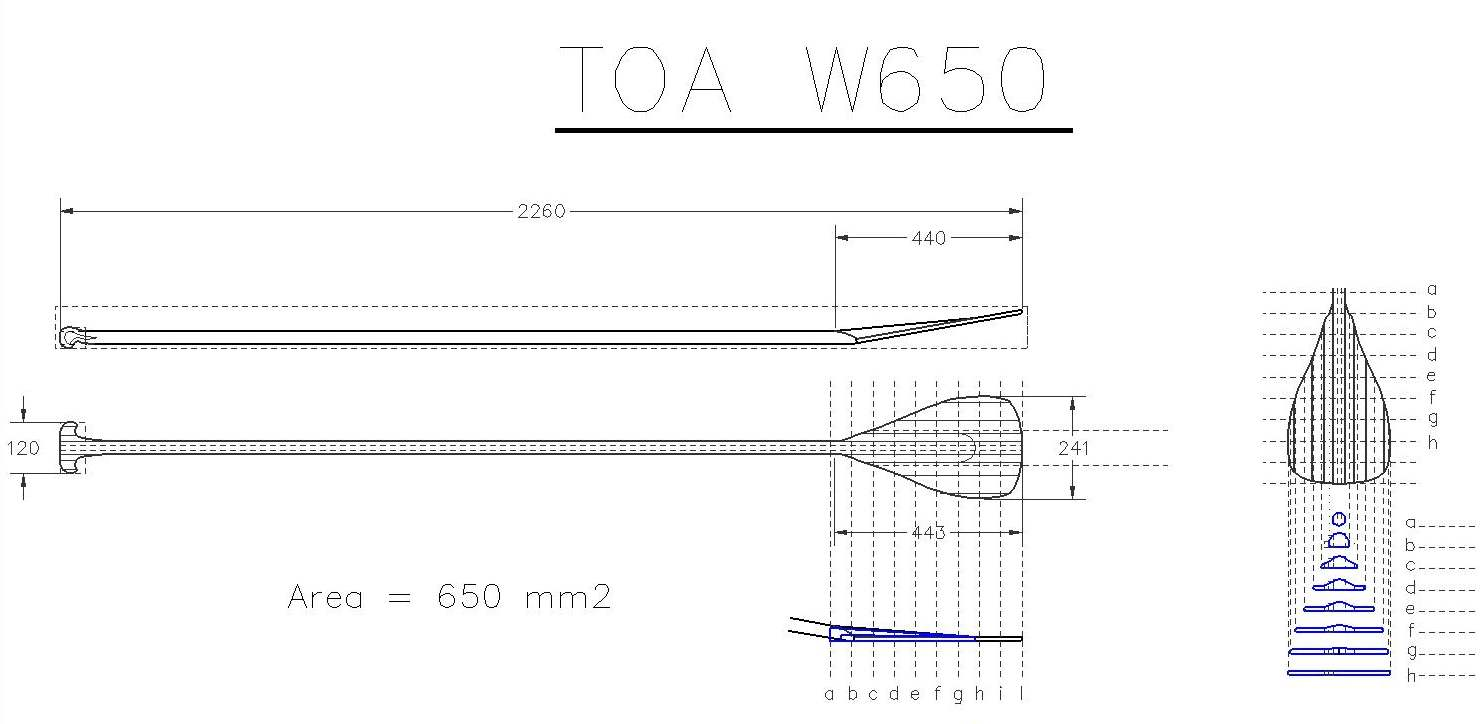 Toawoodsurfboards Sup Paddle Toa Wave 650