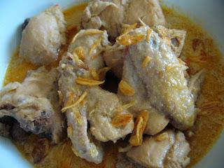 Resep dan cara membuat opor ayam bumbu kuning