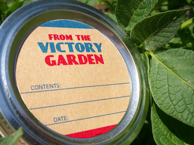 victory garden canning label