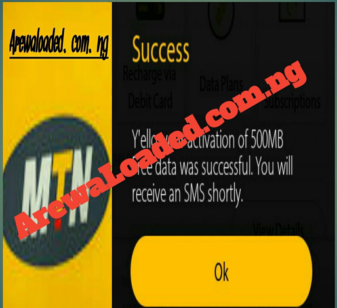 Yadda Zaku Samu Kyautar 500MB A Sim Dinku Na MTN - ArewaLoaded