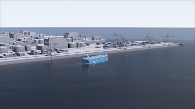 El primer vaixell de contenidors elèctric i autònom salparà des de Noruega el 2018