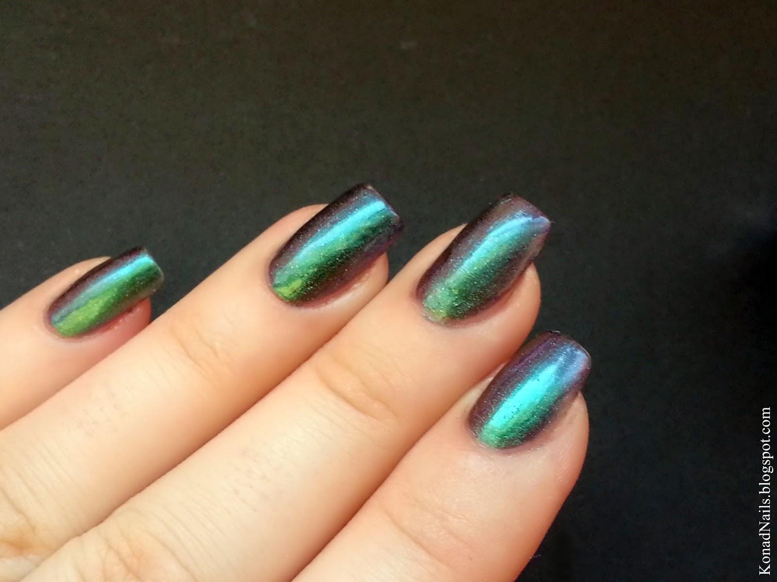 Konad Addict: Mermaid nail art