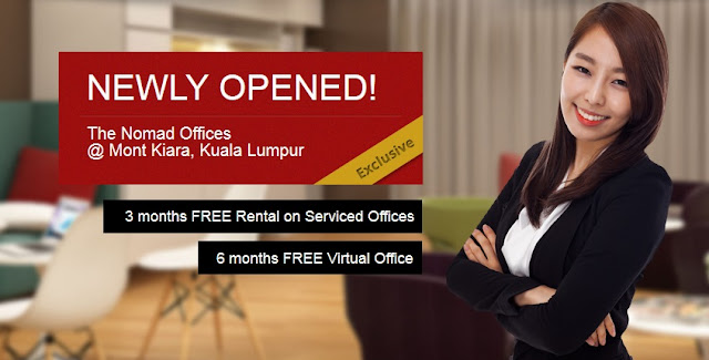 Current on-going promotion at the all-new office at Mont Kiara