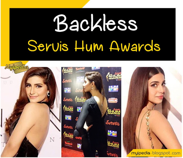 Backless Beauties at Hum Glamourous Awards 2016