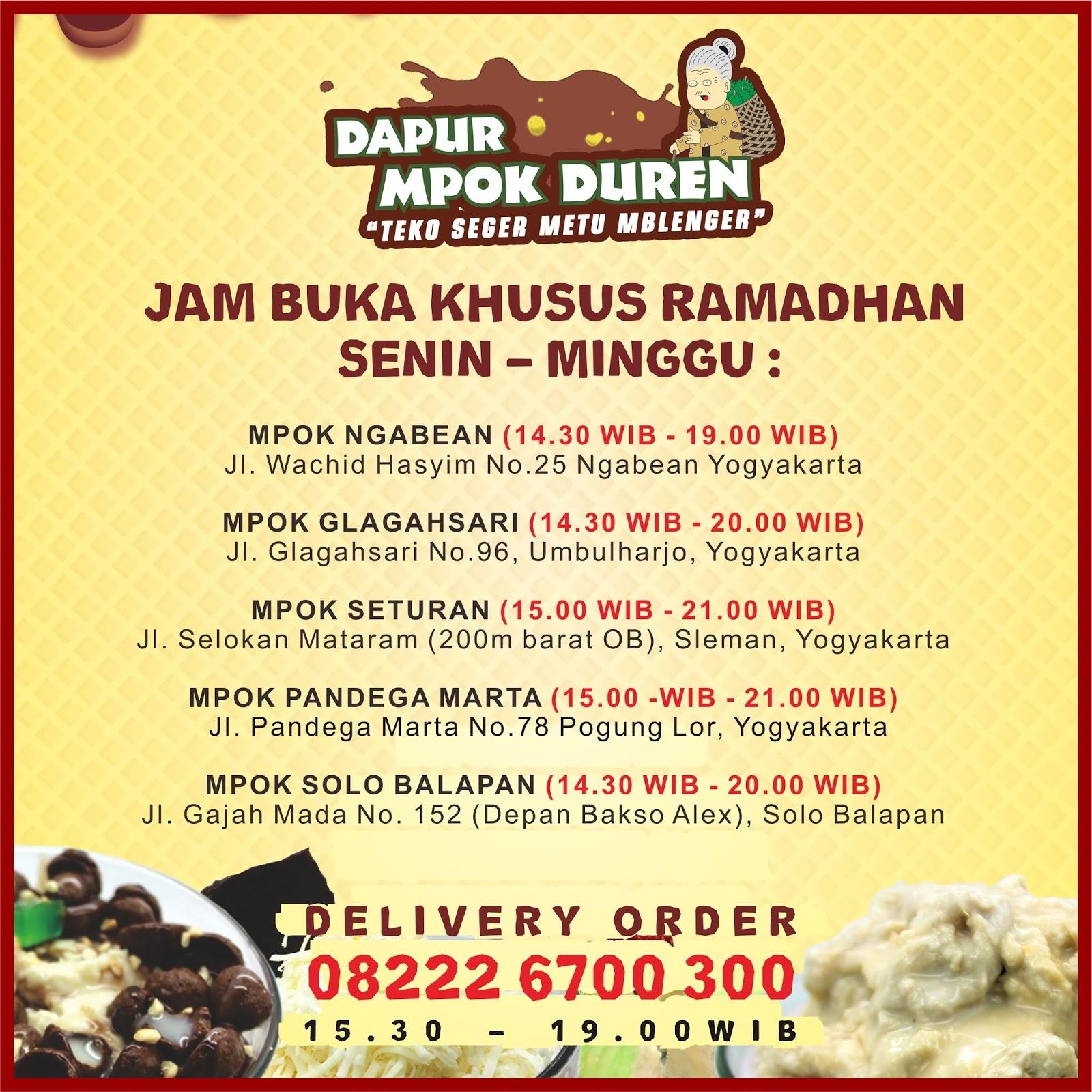 Dapurmpokduren Dapur Mpok Duren Special Ramadhan Jam Buka Khusus