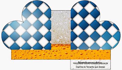 Caja abierta en forma de corazón de  Fiesta de la Cerveza.