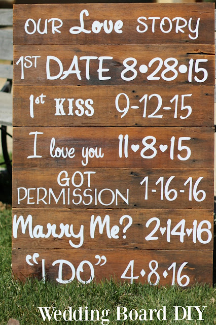 DIY Love Story Wedding Board