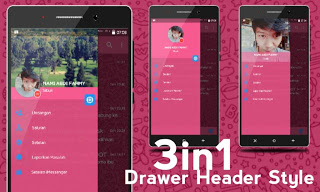 Screenshot BBM Mod iMessenger V7 Themes Cute Pink