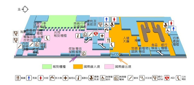 台中清泉岡機場買上網卡平面地圖