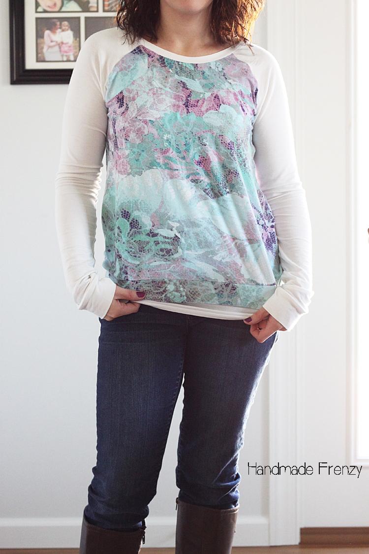 Lane Raglan Sewing Pattern // Made in Rayon Spandex