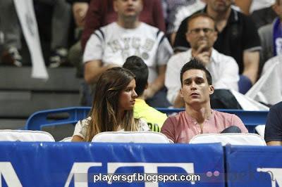 José María Callejón and his girlfriend