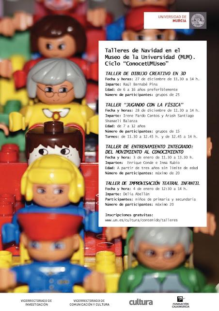 """Talleres de Navidad en el Museo de la Universidad (MUM). Ciclo """"ConocetUMUseo""""."""