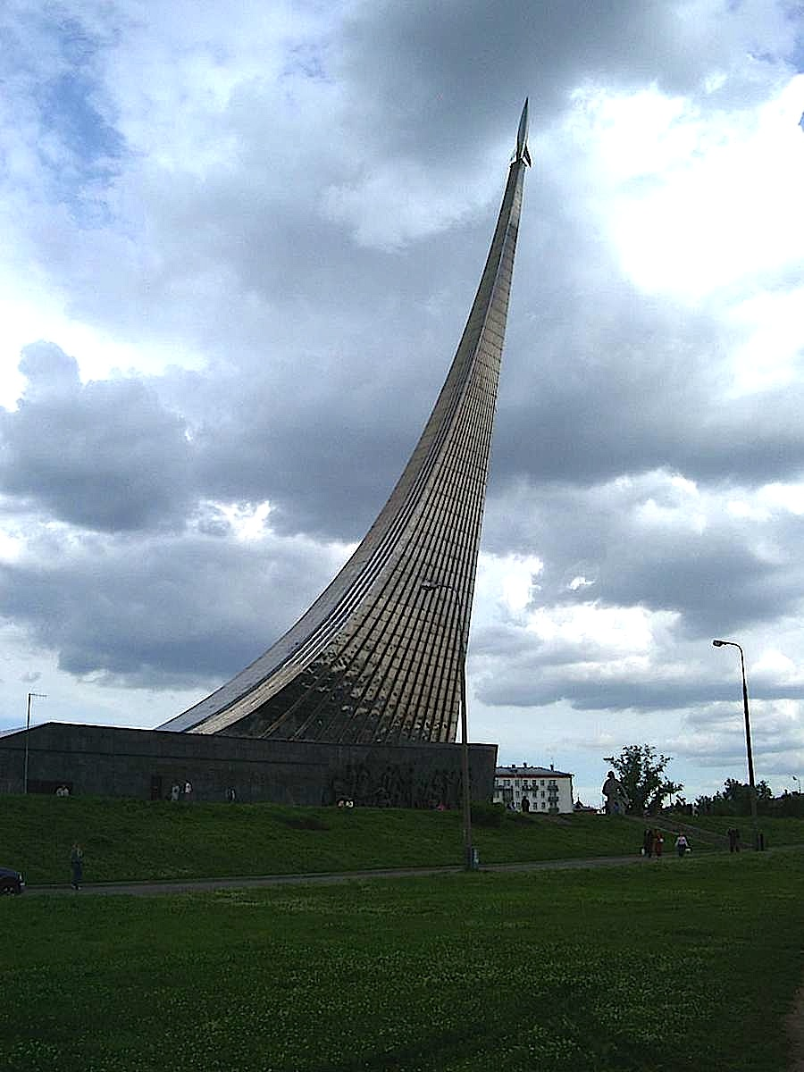 A photograph of The Monument to the Conquerors of Space, Russia 1964