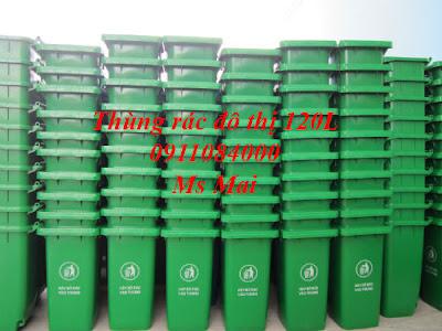 Thùng rác nhựa 240 lít màu xanh _ giá siêu rẻ