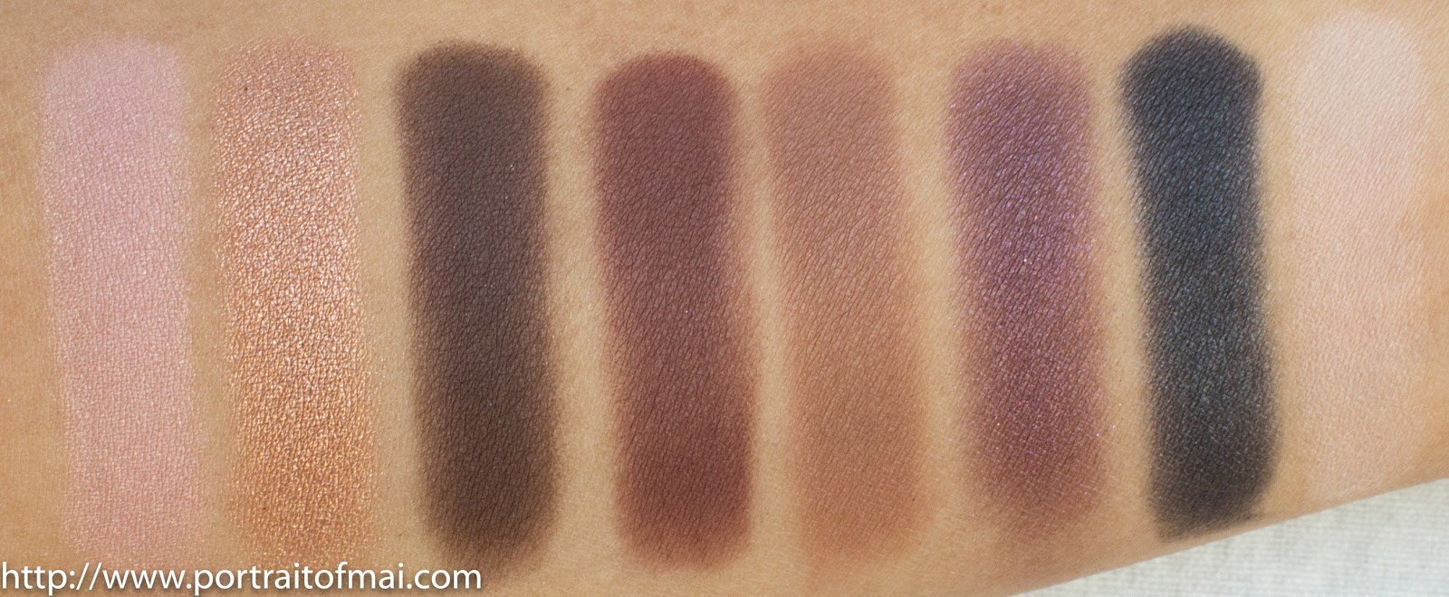 Swatches of Too Faced Chocolate Bon Bons Palette