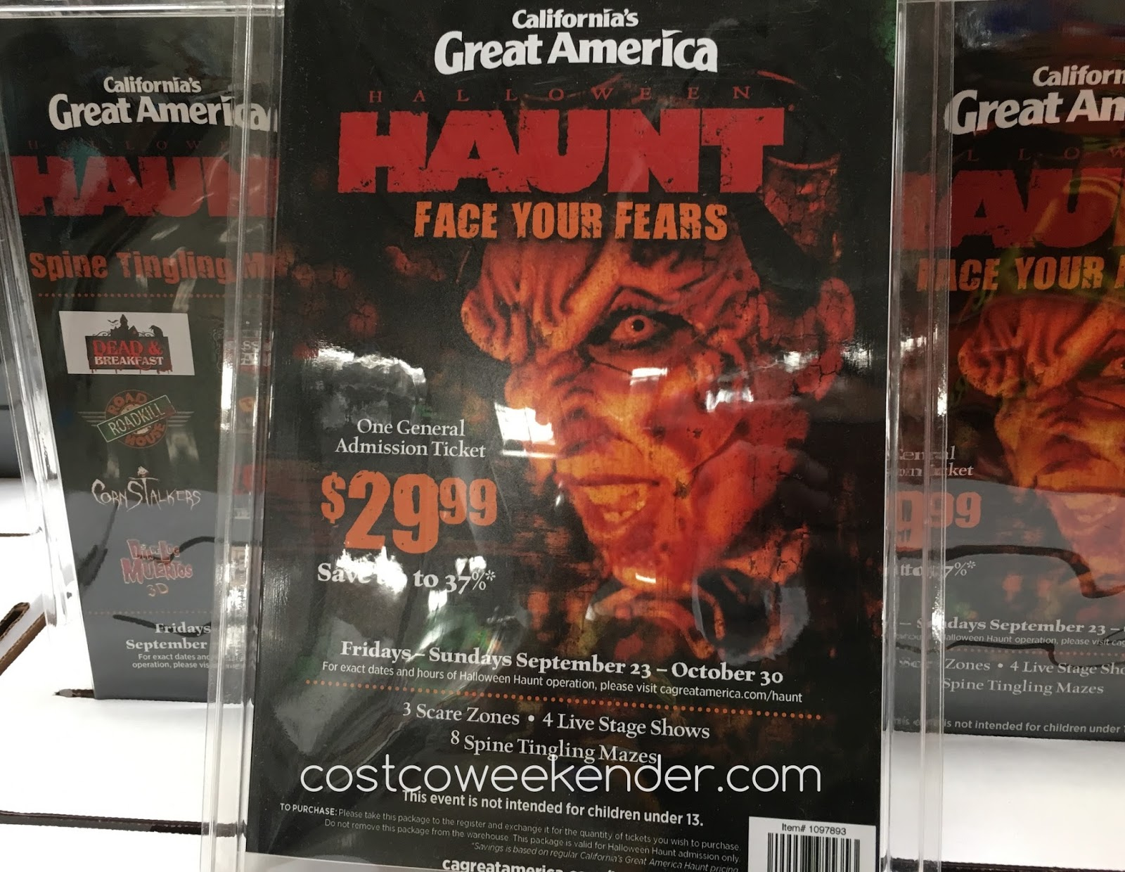 great america halloween haunt 2016 general admission ticket | costco