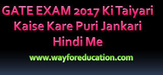 GATE Exam Ki Taiyari Kaise Kare Janiye Puri Jankari Hindi Me