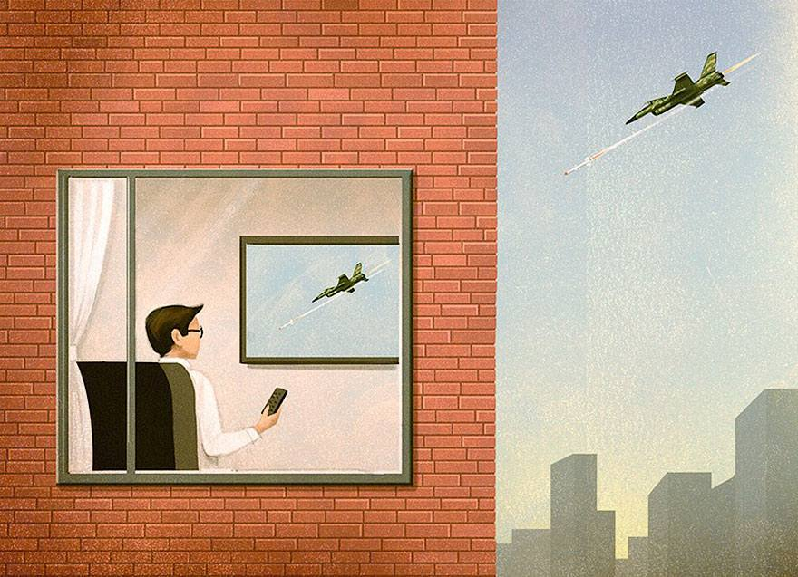 The Absurdities of Life in the 21st Century Captured in Powerful Illustrations - War Is Closer Than You Think