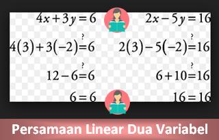 Contoh Soal Persamaan Linear Dua Variabel Beserta Jawabannya