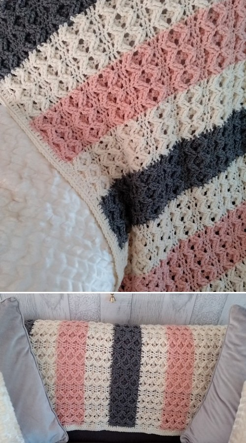 Beautiful Waves Throw - Free Pattern