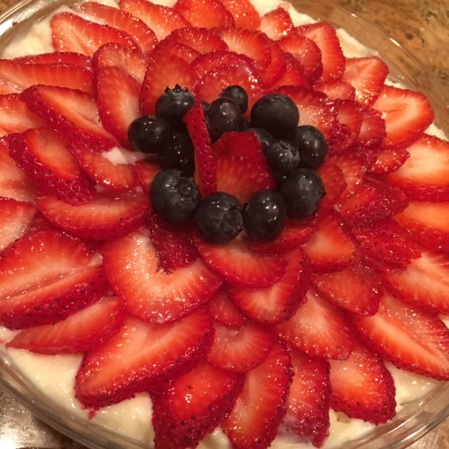 Strawberries Cream Torte Recipe: Beverly's Blog: Strawberry Blueberry Torte Or Trifle Recipe