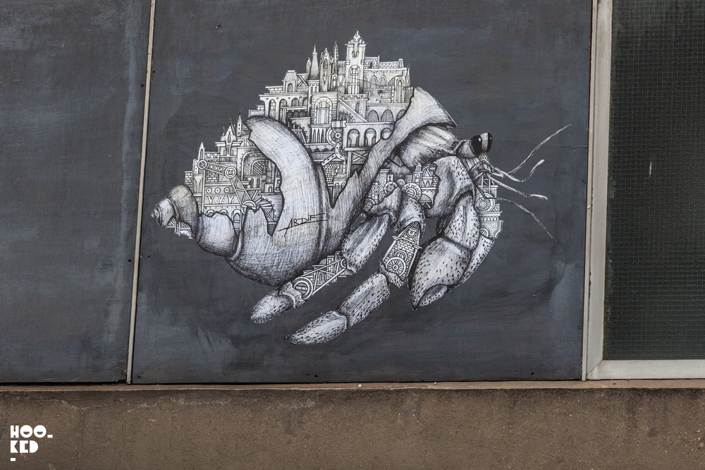 French street artist Ardif's Ornate Mechanimals in London. Photo ©Hookedblog / Mark Rigney