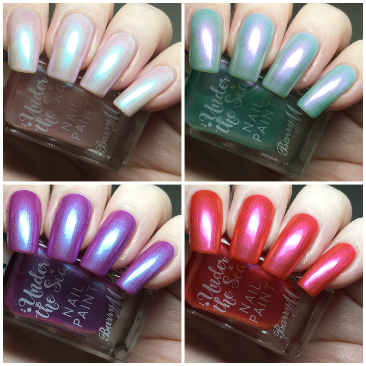 A Certain Becca Nails Barry M 2019 Under The Sea Additions