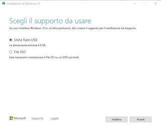 Chiavetta Windows 10