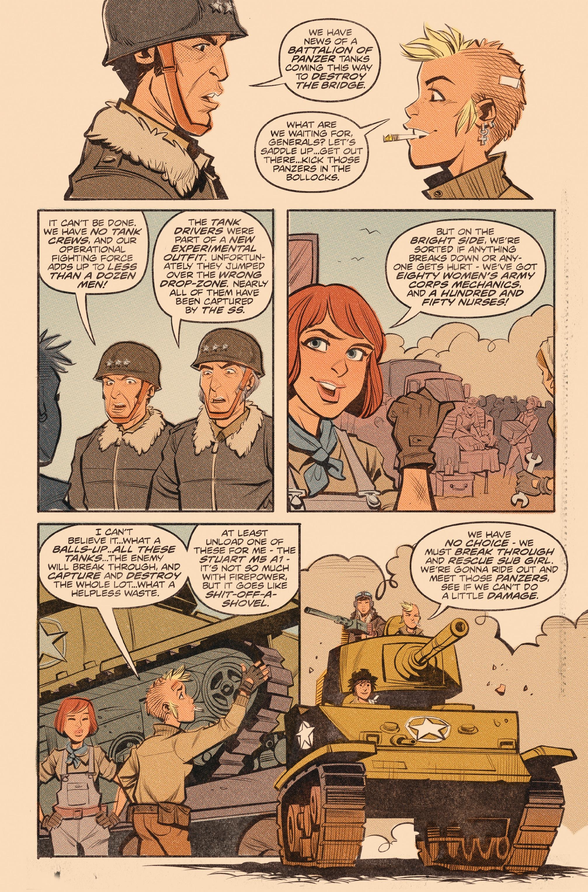 Read online Tank Girl: World War Tank Girl comic -  Issue #3 - 5