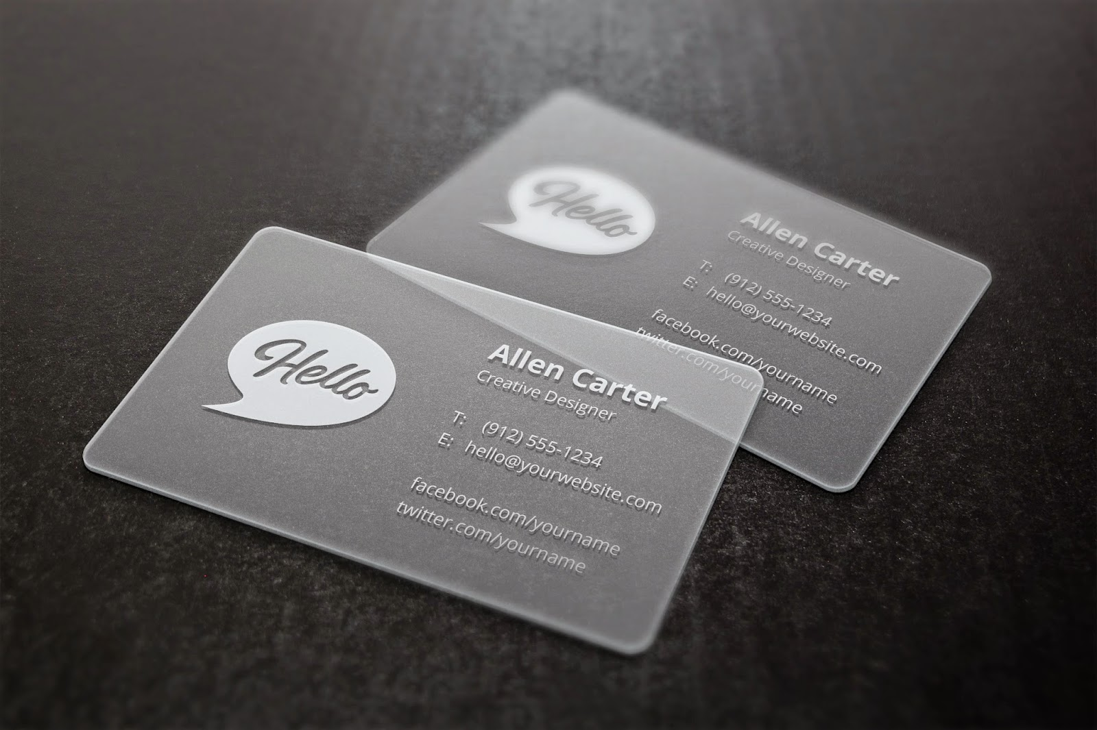 Custom Business Cards Printing Design: Our translucent business ...