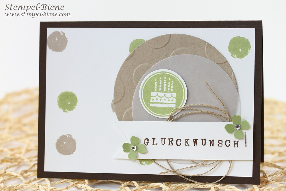 Glückwunschkarte für einen Mann, Stampin Up Drehstempel Alphabet, Stampin Up Geburtstagskracher, Stampin' up Herbst-/Winterkatalog, Stampin' Up Workshop Recklinghausen