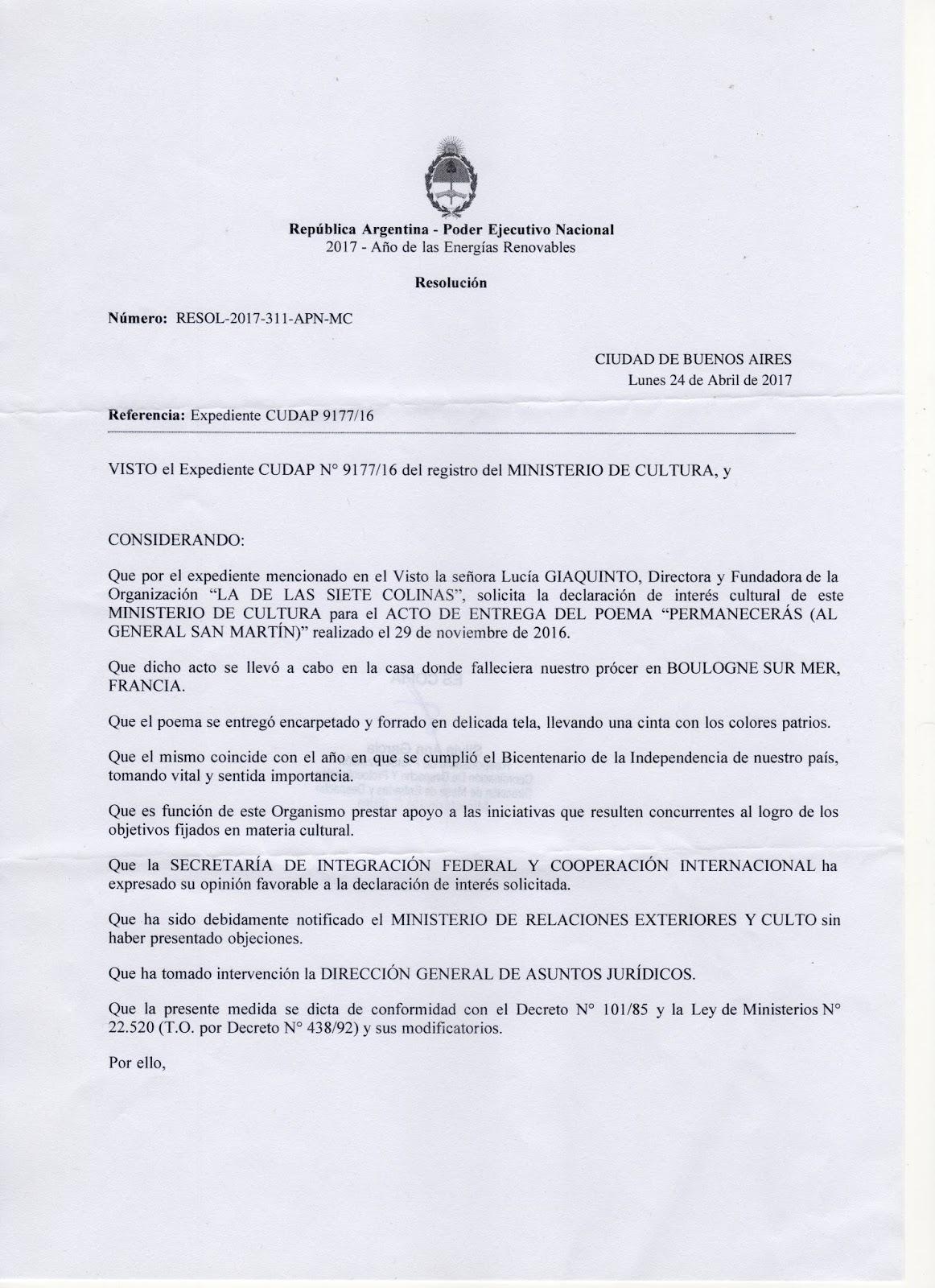 La De Las Siete Colinas Declaratoria De Inter S Del Ministerio De Cultura De La Naci N