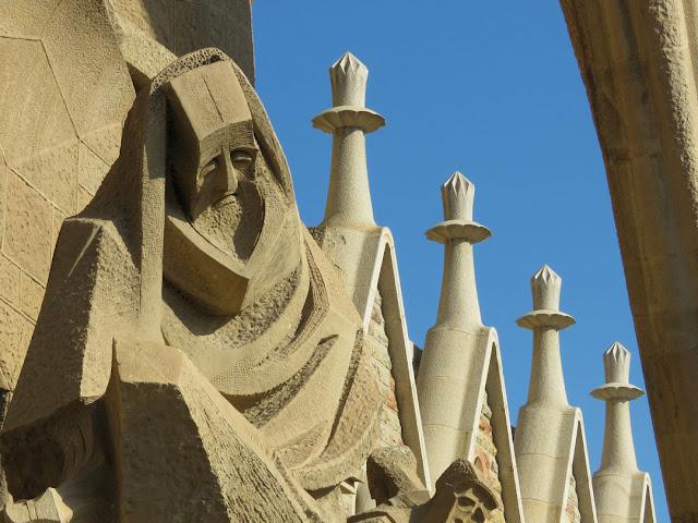 Denial of Peter by by Josep Maria Subirachs, Passion Façade, Sagrada Família