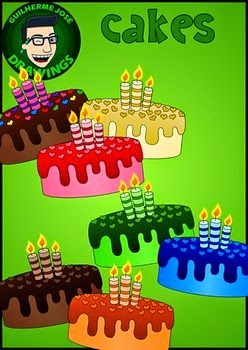 Free Cakes Clipart by Guilherme José Drawings