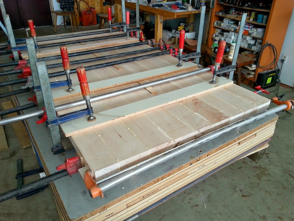 Gluing Wood Planks Together for a DIY Counter