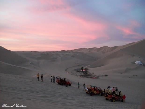 Huacachina, tramonto tra le dune