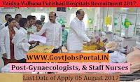 Andhra Pradesh Vaidya Vidhana Parishad Hospitals Recruitment 2017– 90 Gynaecologists, & Staff Nurses