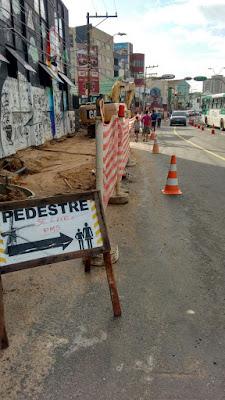 Começa terceira etapa das obras do Rio Vermelho na Rua do Meio